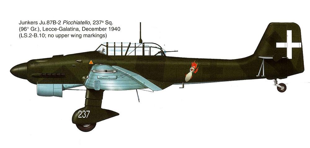 Junkers Ju 87B2 Picchiatelli RA 96 Gruppo 237a Squadriglia Italy 1940 0A