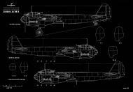 Asisbiz Artwork by Kagero blue print 1.72 scale Junkers Ju 88 A 5 side view 0A