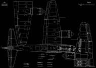 Asisbiz Artwork by Kagero blue print 1.72 scale Junkers Ju 88 A top and bottom view 0A