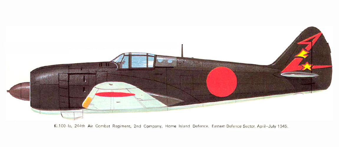 Art Kawasaki Ki 100 I Kou 244 Sentai 2 Chutai Eastern Japan 1945 0A