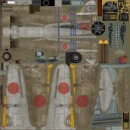 Asisbiz IL2 TA Ki 100 I Otsu 111 Sentai 1 Chutai W43 Capt Nameta Nagoya Japan 1945