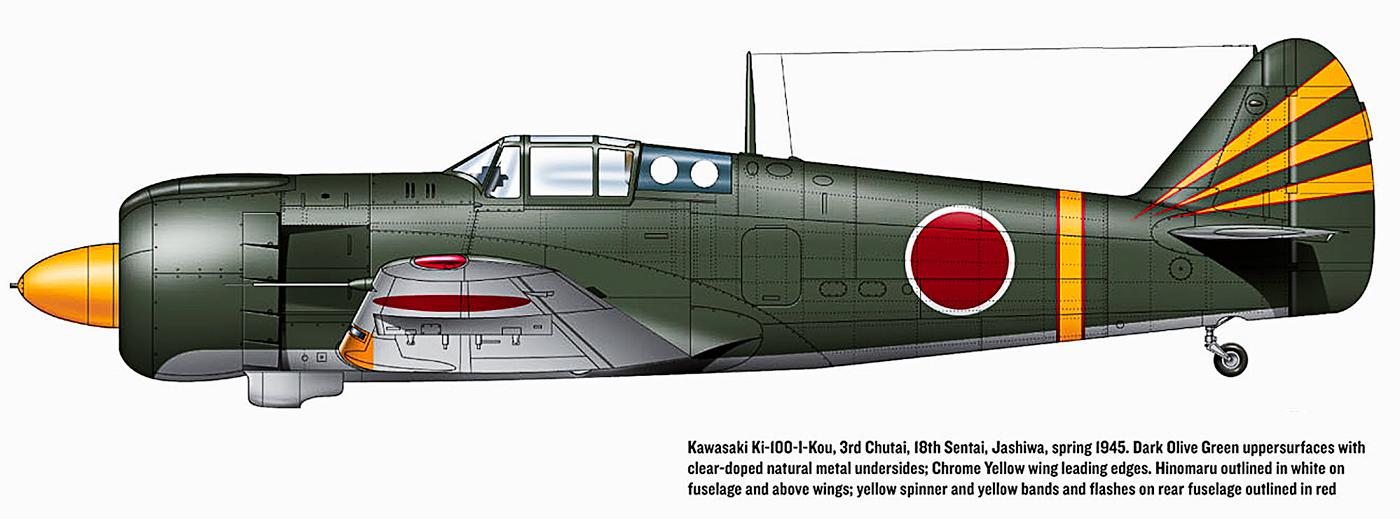 Art Kawasaki Ki 100 I Kou 18th Sentai 3rd Chutai Kashiwa Japan 1945 0A