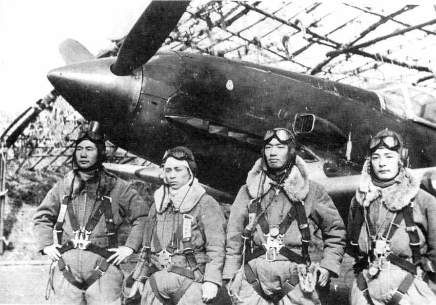 IJAAF pilots 244 Sentai Tembico Kobayashi 2nd from right 01