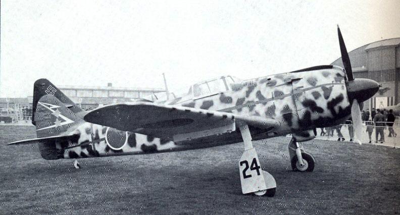 Kawasaki Ki 100 244 Sentai 2 Chubtai Red 24 restored Japan 1945 01