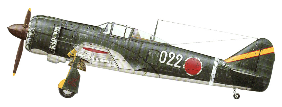 Art Kawasaki Ki 100 I Kou 59 Sentai 3 Chutai W022 Ashiya AF Fukuoka Japan 1945 0A