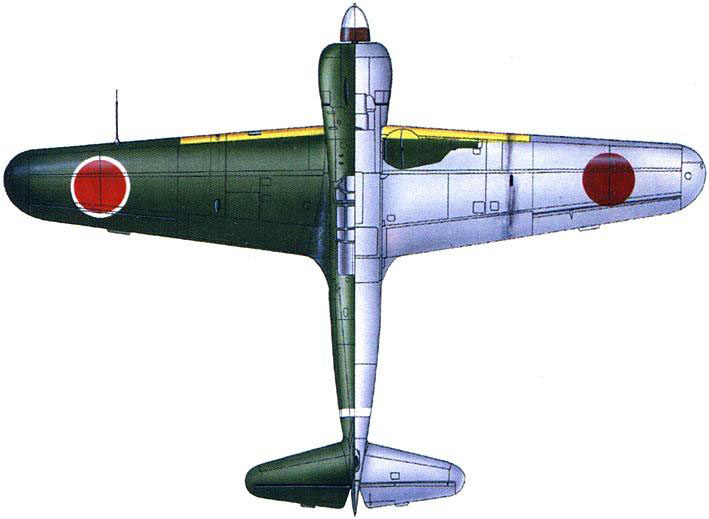 Art Kawasaki Ki 100 I Kou 59Sentai 3Chutai W078 Ashiya AF Fukuoka Japan 1945 0B