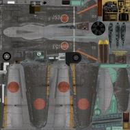 Asisbiz IL2 GB Ki 100 59 Sentai 3 Chutai White 153 Naoyuki Ogata Japan 1945