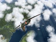 Asisbiz IL2 GB Ki 100 59 Sentai W078 banking hard right into attack Japan V03