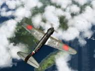 Asisbiz IL2 RO Ki 100 59 Sentai W47 attacking profile view over Japan V02
