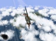 Asisbiz IL2 RO Ki 100 59 Sentai W47 banking hard right into attack Japan V01