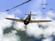 Asisbiz IL2 RO Ki 100 59 Sentai W47 closes in for attack on B 29 formations V03