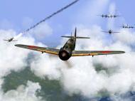 Asisbiz IL2 RO Ki 100 59 Sentai W47 closes in for attack on B 29 formations V05