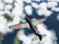 Asisbiz IL2 RO Ki 100 59 Sentai W47 gets ready to pounce on B 29 Superfortress V05