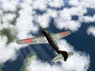 Asisbiz IL2 RO Ki 100 59 Sentai W47 gets ready to pounce on B 29 Superfortress V07