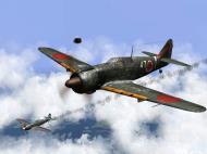 Asisbiz IL2 RO Ki 100 59 Sentai W47 in the midst of 20AF B 29s Japan V04