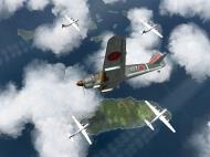 Asisbiz IL2 TF Ki 100 59 Sentai W177 banking hard right into attack Japan V01