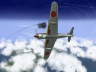 Asisbiz IL2 TF Ki 100 59 Sentai W177 banking hard right into attack Japan V02