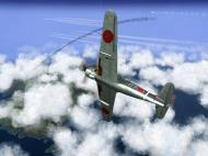 Asisbiz IL2 TF Ki 100 59 Sentai W177 banking hard right into attack Japan V03