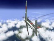 Asisbiz IL2 TF Ki 100 59 Sentai W177 banking hard right into attack Japan V04