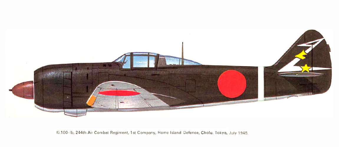 Art Kawasaki Ki 100 I Kou 244 Sentai 1 Chutai Eastern Japan 1945 0A