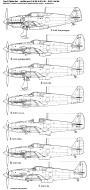 Asisbiz Art profile blueprints and technical drawings of Japanese fighter Kawasaki Ki 61 Tony 01