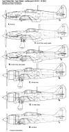 Asisbiz Art profile blueprints and technical drawings of Japanese fighter Kawasaki Ki 61 Tony 02