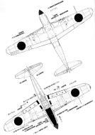 Asisbiz Art profile blueprints and technical drawings of Japanese fighter Kawasaki Ki 61 Tony 04