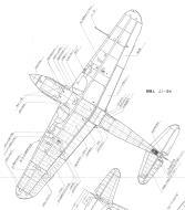 Asisbiz Art profile blueprints and technical drawings of Japanese fighter Kawasaki Ki 61 Tony 05
