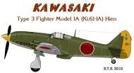 Asisbiz Artwork Tony Ki 61 IA Black 91 New Guinea April 1943
