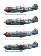 Asisbiz Lavochkin La 5 profiles from LaGG n Lavochkin Aces of World War 2 Osprey Aces 56 page 57