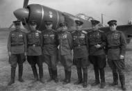 Asisbiz Lavochkin La 7 111GvIAP awarded personnel Ukrainian Front 1945 01