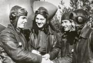 Asisbiz Lavochkin La 7 176GvIAP Ivan Kozhedub being congratulated on his last victory over Kustrin 17 Apr 1945 01