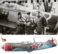 Asisbiz Lavochkin La 7 176GvIAP White 27 cn 45210127 HSU IN Kozhedub Belorussian Front May 1945 0A
