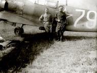 Asisbiz Lavochkin La 7 2GvIAD 322IAD White 79 with pilot PM Nepryakhin at Smerdyna Poland Jul 1945 01