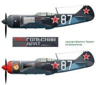 Asisbiz Lavochkin La 7 2GvIAP 322IAD Silver 87 Smerdyna Ukrainan front early 1945 0A