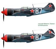 Asisbiz Lavochkin La 7 2GvIAP 322IAD Silver 87 Smerdyna Ukrainan front early 1945 0B