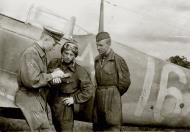 Asisbiz Lavochkin La 7 415IAP no 16 with pilots Alexander Vasiliev,Vasily Belov and mechanic Alexander Elizarov 01