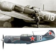 Asisbiz Lavochkin La 7 482IAP 322IAD Silver 18 flown by Capt Vassili A Zaytsev Ukrainan front 0A