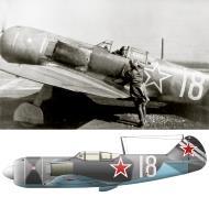Asisbiz Lavochkin La 7 482IAP Silver 18 with Vasily Vladimirovich Zaitsev spring 1945 0A