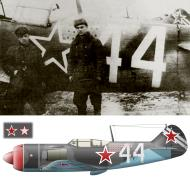 Asisbiz Lavochkin La 7 482IAP Silver 44 with Korolev Vitaly spring 1945 0A