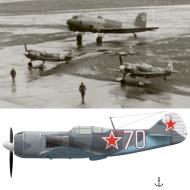 Asisbiz Lavochkin La 7 4GvIAP White 70 LtCol Vasilii Golubev and La 5FN White 41 1944 45 0A