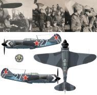 Asisbiz Lavochkin La 7 790IAP 1Sqn White 27 flown by Maj AK Sannikov cmdr at Shchuchin Belarus 1945 0A