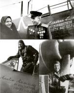 Asisbiz Lavochkin La 7 9GvIAP White 14 Capt Aleksei Alelyukhin at Moscow July 1944 02