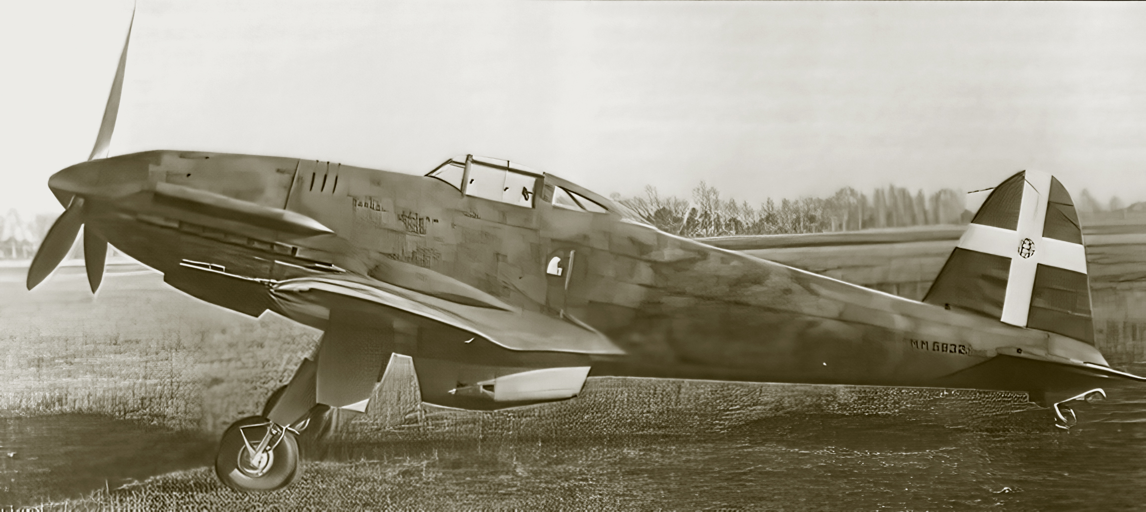 Caproni Vizzola F 4 was an Italian fighter aircraft prototype built by Caproni 167G303SA MM5932 02