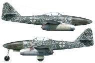 Asisbiz Messerschmitt Me 262A1a 7.EJG2 White 34 Brunnthal Bavaria Germany May 1945 0A