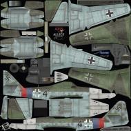Asisbiz IL2 AA Me 262A1a 2.JG7 Black 4 Germany 1945