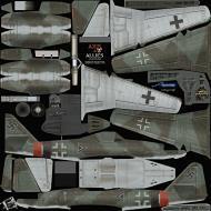 Asisbiz IL2 AA Me 262A1a Stab III.JG7 ((+I Blue 1 Rudolf Sinner Parchim Mar 1945