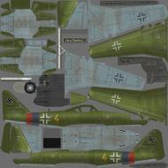 Asisbiz IL2 AS Me 262A1a 3.JG7 Yellow 4 WNr 112372 Germany 1945