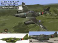 Asisbiz IL2 HM Me 262A1a Stab III.JG7 ((+I Blue 1 Rudolf Sinner Parchim Mar 1945 V0A