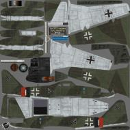 Asisbiz IL2 HM Me 262A1a Stab III.JG7 ((+I Blue 1 Rudolf Sinner Parchim Mar 1945